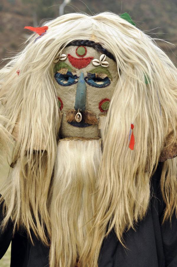 Jedna z tradičných másk ľudí v štáte Arunachal Pradesh pri oslavách výročia nezávislosti štátu vo februári._resize